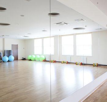 Custom mirrors in a gym