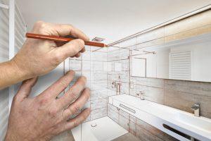 Bathroom remodeling concept