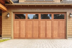 Wooden garage door example