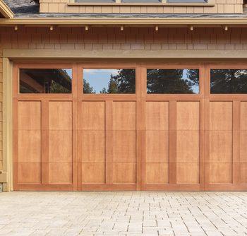 Wooden garage door example