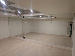 floor to ceiling mirror installation in Newbury