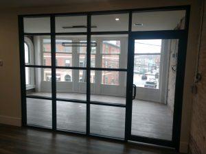 office vestibule door installation in newburyport